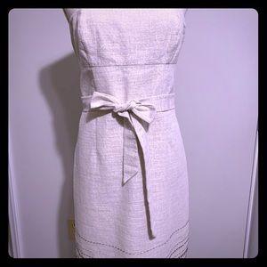 Ann Taylor LOFT strapless silver shimmer dress.